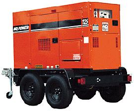 45KVA Whisperwatt Towable Diesel Generator