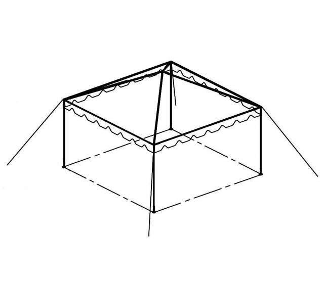 Clear Top Canopy Tent, 15' X 15'