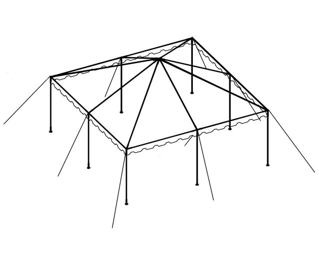 Clear Top Canopy Tent, 20' X 20'