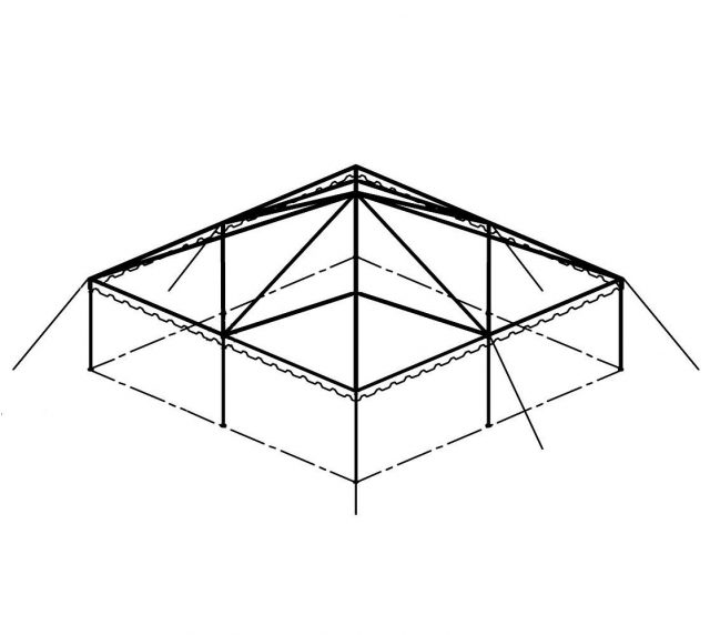 Clear Top Canopy Tent, 30' X 30'