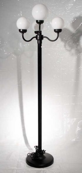 4 Branch Patio Light, Black