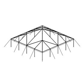 Clear Top Canopy Tent, 40' X 40'
