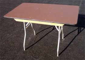 "4'x30"" Banquet Tables"