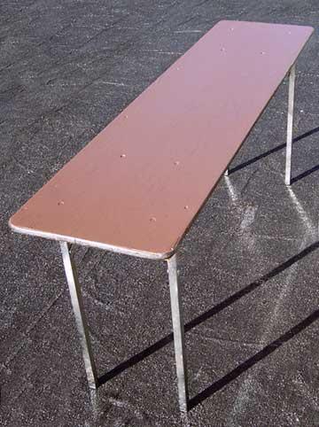 "6'x18"" Seminar Tables, Wood"