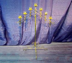 Candelabra, 7 Branch Gold