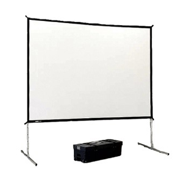 Projector Screen, 9' X 12' with Black Bottom Skirt (Indoor Only)