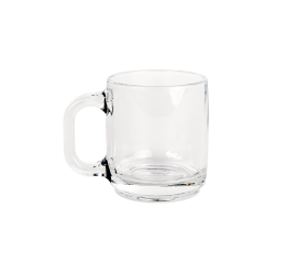 Clear Glass, 10oz Coffee Mug