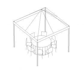 Frame Tent, 10'X10' White