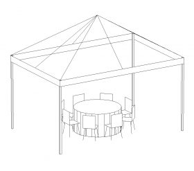 Pop-Up Canopy, 10'X15' White