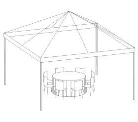 Frame Tent, 15'X15' White