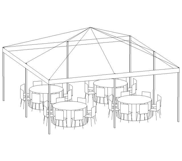 Frame Tent, 20'X20' White