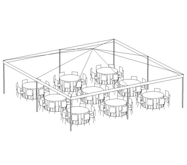 Frame Tent, 30'X30' White