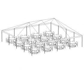 Frame Tent, 40'x40' White