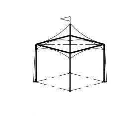 Festival Tent, 10'X10' White