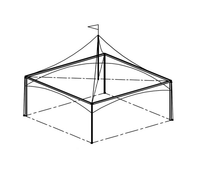 Festival Tent, 20'X20' White