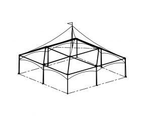Festival Tent, 30'X30' White