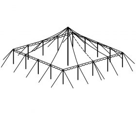 Push Pole Tent, 40'X40' White