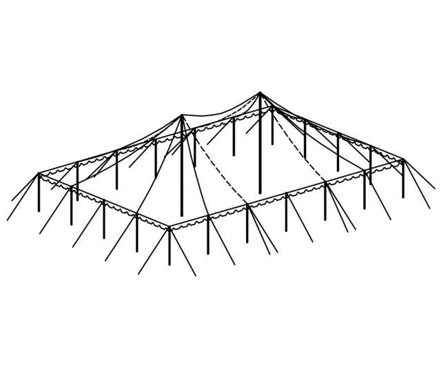 Push Pole Tent, 40'X60' White