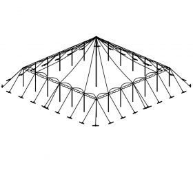Push Pole Tent, 50'X50' White
