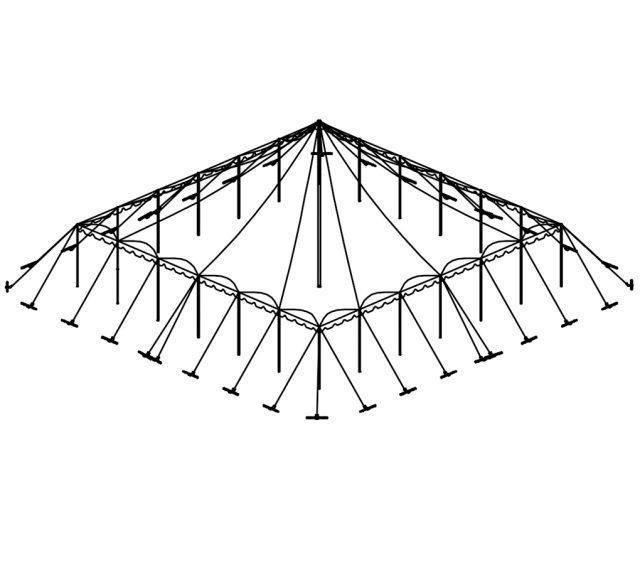 Push Pole Tent, 50'X50' White