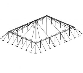 Push Pole Tent, 50'X70' White