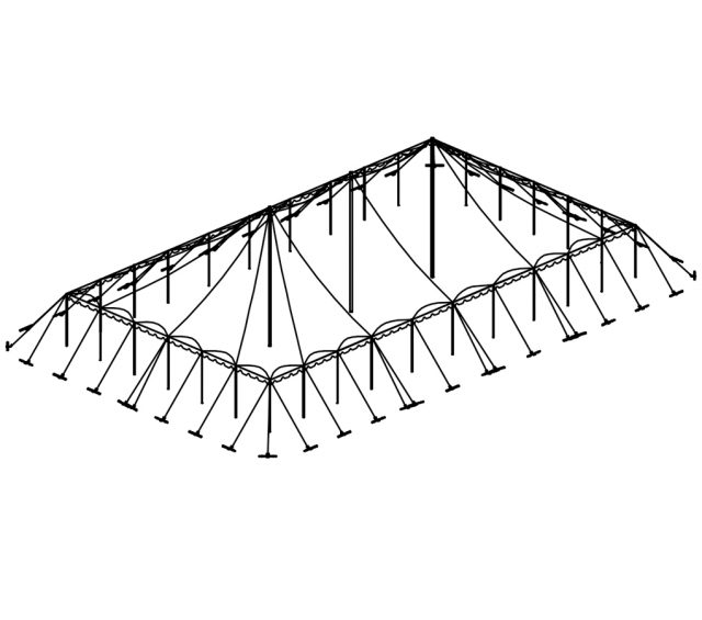 Push Pole Tent, 50'X90' White