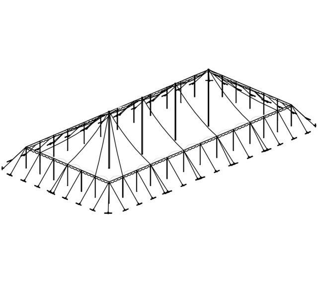 Push Pole Tent, 50'X110' White
