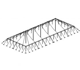 Push Pole Tent, 50'X130' White