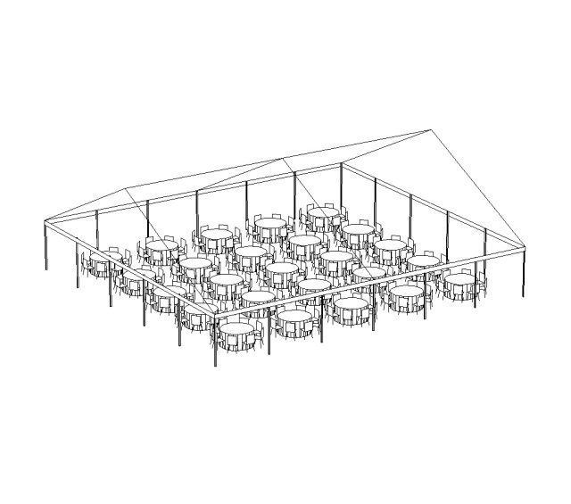 JumboTrac Frame Tent, 50'X55' White