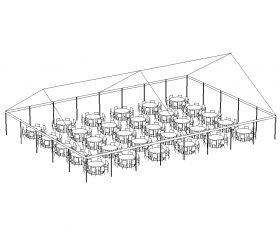 JumboTrac Frame Tent, 50'X70' White