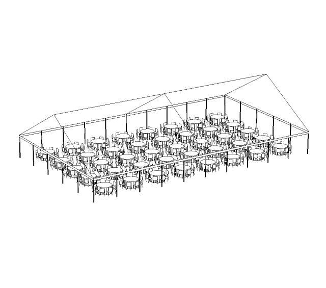 JumboTrac Frame Tent, 50'X85' White