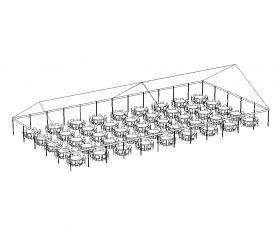JumboTrac Frame Tent, 50'X100' White