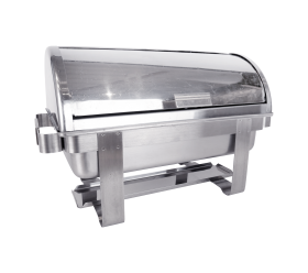 Rectangle Roll Top Chafer, 8qt. Polished
