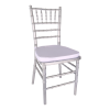 Chair, Silver Chiavari with Cushion