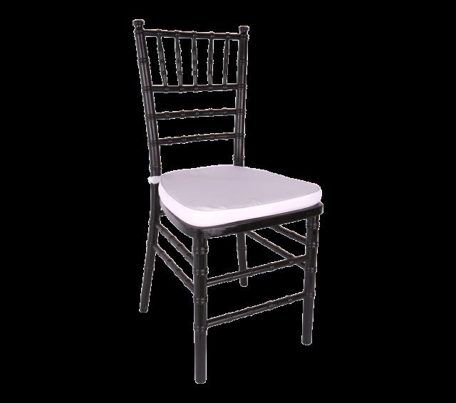 Chair, Black Chiavari with Cushion