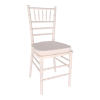 Chair, White Chiavari with Cushion