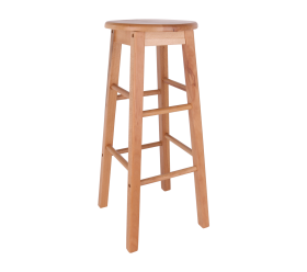 Bar Stool, Natural Wood