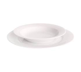 White China, Soup Plate 8""