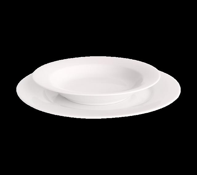"White China, Soup Plate 8"""