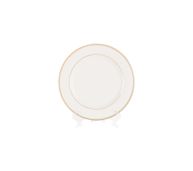 White with Gold Border, Salad Plate 8""