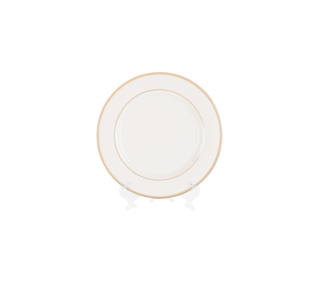 """White with Gold Border, Salad Plate 8"""""""