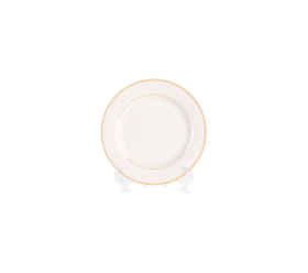 White with Gold Border, Bread Plate 6""
