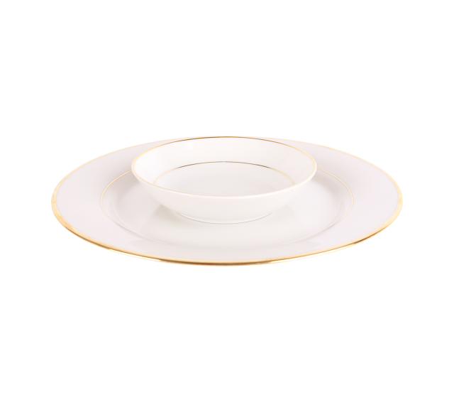 White with Gold Border, Fruit Bowl 5""