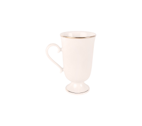 White with Gold Border, Irish Mug