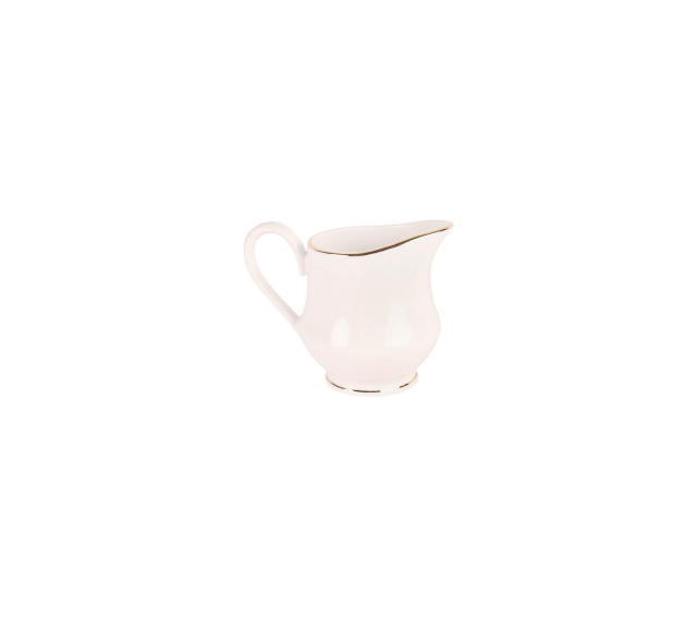 White with Gold Border, Creamer