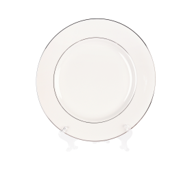 "White and Silver China, 12"" Chop Plate"