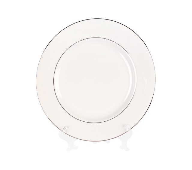 """White and Silver China, 12"""" Chop Plate"""