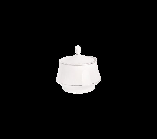 White and Silver China, Sugar Bowl