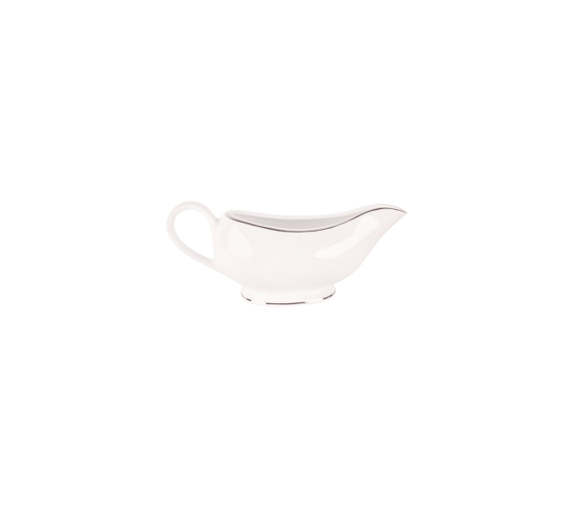White and Silver China, Gravy Boat