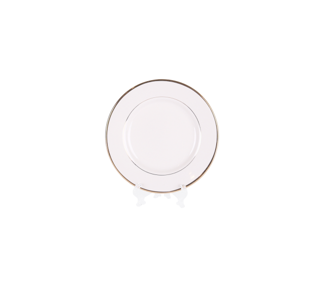 "Ivory with Gold Border, 6"" Bread & Butter Plate"